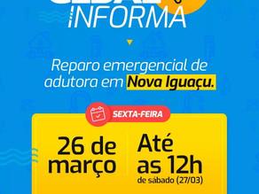 CEDAE realiza reparo nesta sexta-feira em adutora de Nova Iguaçu - SUPER TOP FM 89.9