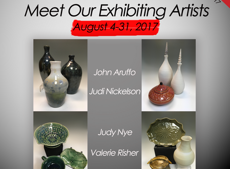 August 2017 - Meet our Exhibiting Artists