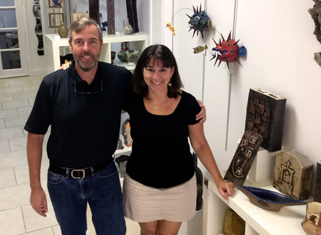 Sculpting Brighter Future - Vero Beach Couple Buys Flametree Gallery