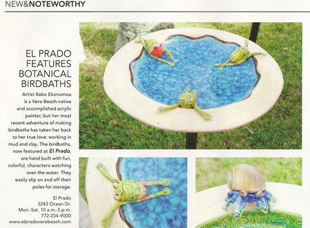 Keko Ekonomou's work in Vero Beach Magazine