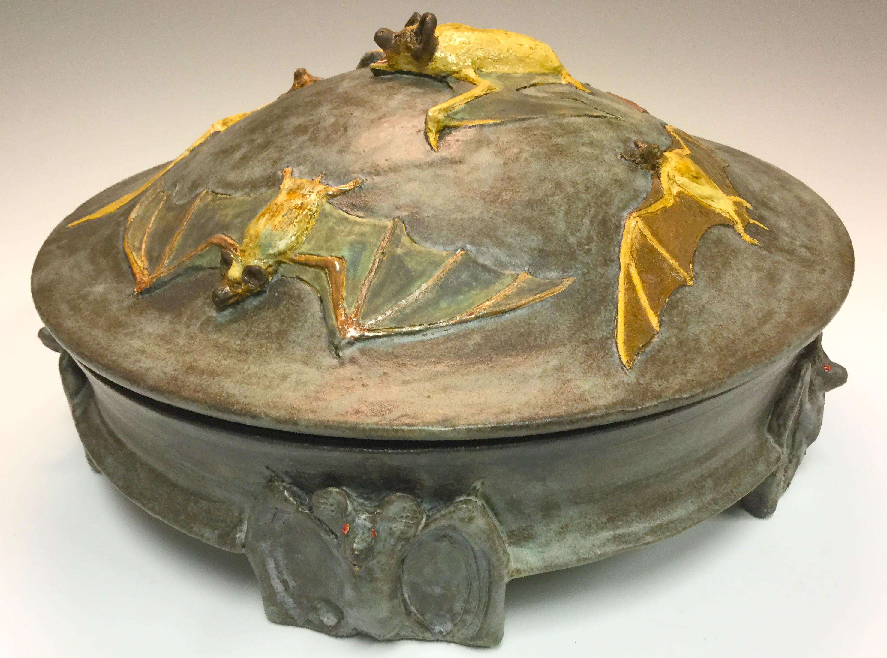 Lidded Vessel - - Myriad Bats