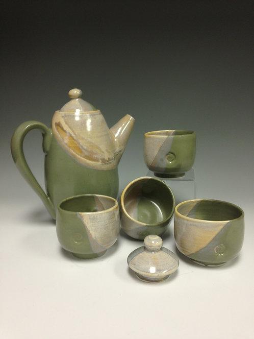 Rae Marie Crisel - Moon Glow Teapot w/4 cups