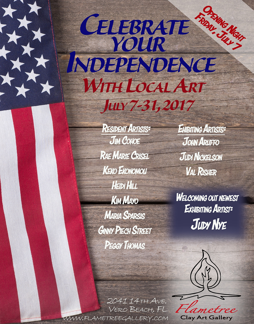 Celebrate your Independence with Local Clay Art!