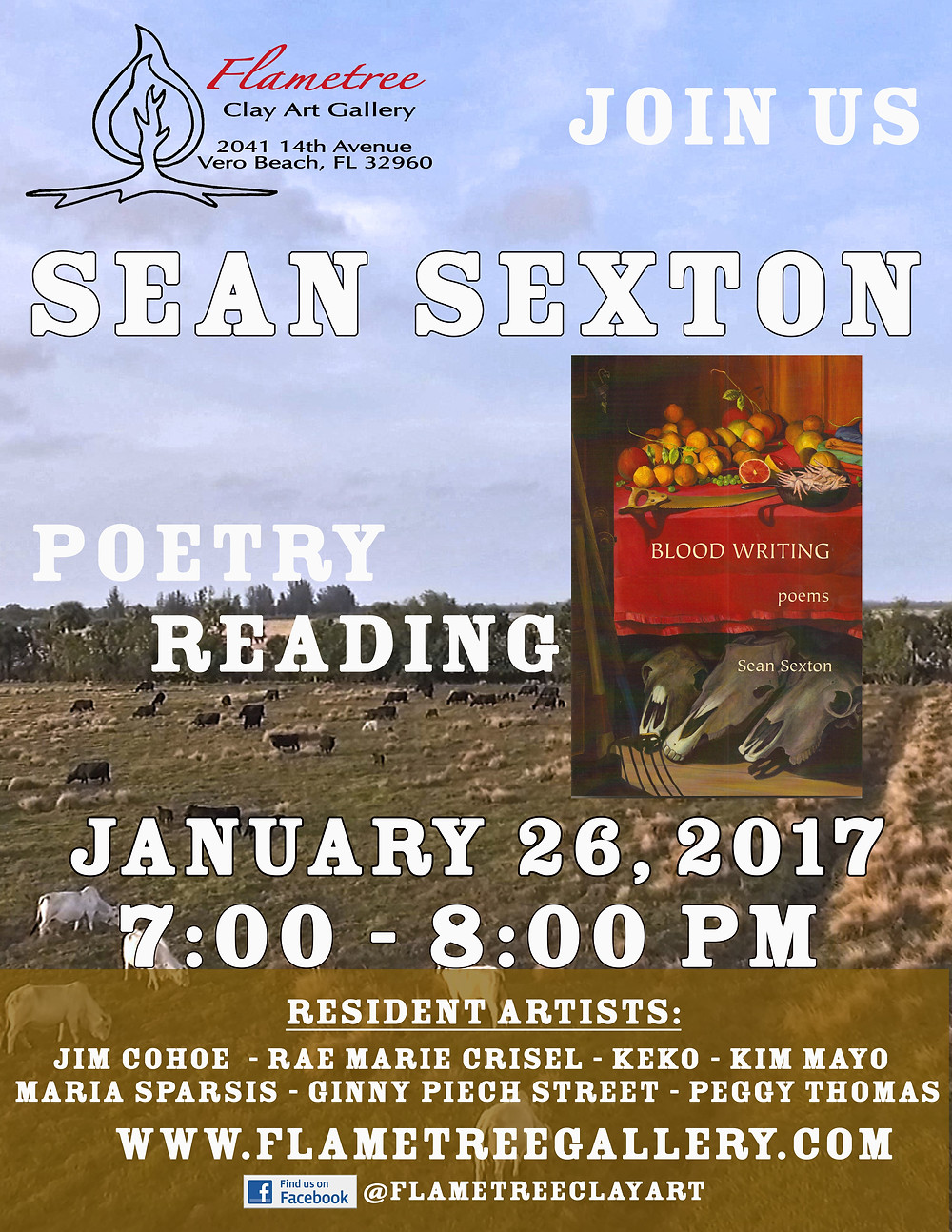 Join us January 26, 2017 for a poetry reading by Sean Sexton