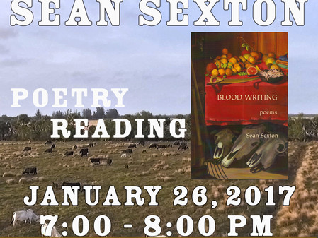 Sean Sexton Poetry Reading at Flametree Clay Art Gallery