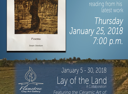 Join us for a poetry reading and clay art!