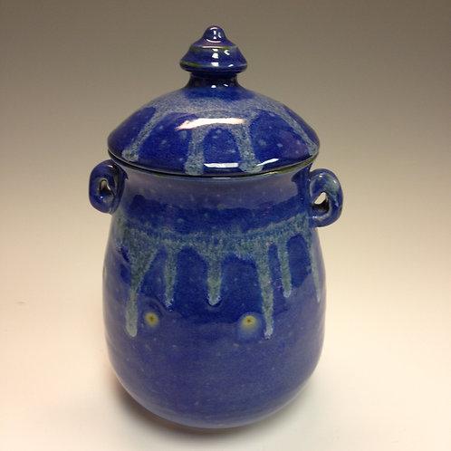 Rae Marie Crisel - Deep Blue Ocean Series Jar w/Lid #8