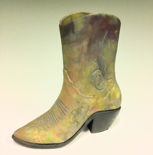 Heidi Hill - Cowboy Boot Leather | Flametree Clay Art Gallery ...