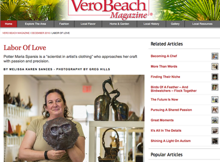 Flametree's Own - Maria Sparsis - Featured in Vero Beach Magazine
