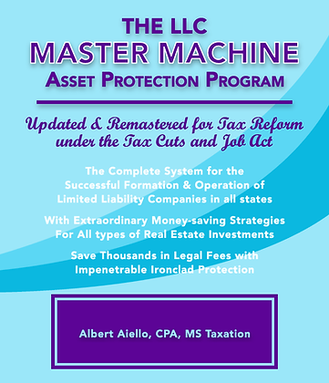 The LLC Master Machine Asset Protection Program