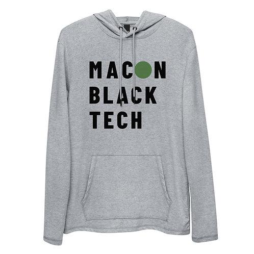 Macon Black tech Unisex Lightweight Hoodie