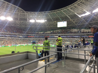 Спортсмены отделения «футбол» на матче КРЫЛЬЯ СОВЕТОВ -СПАРТАК