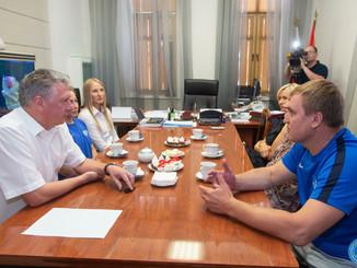 Министр спорта Самарской области встретился с призерами Европейских игр