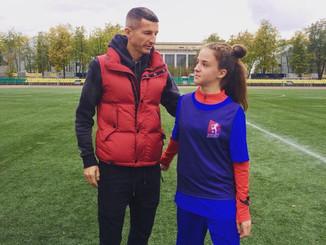 Аня Иванова приняла Участие в проекте «Будущие чемпионы». Отбор проходил в Москве на Лужниках.