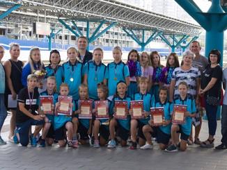 24 августа команда девочек СШОР 11 прибыла в родную Самару! На вокзале девочек ждал настоящий сюрпри