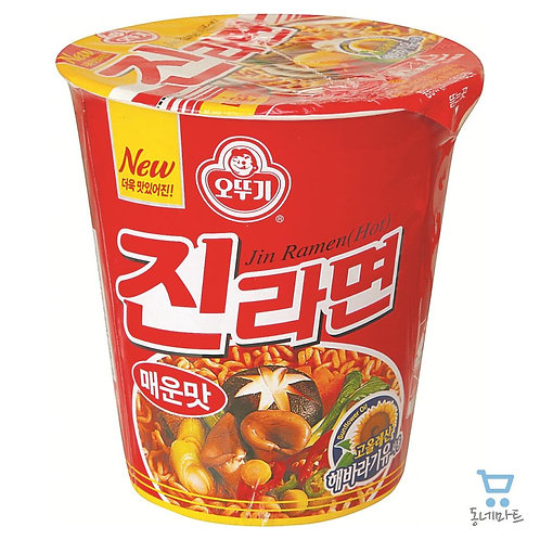 Jin Ramyun Spicy (Noodle Soup) Small Cup