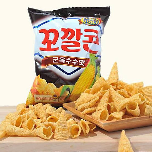Sweet & Spicy Roasted Corn Chips