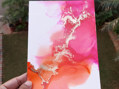 Simple alcohol ink abstract art tutorial