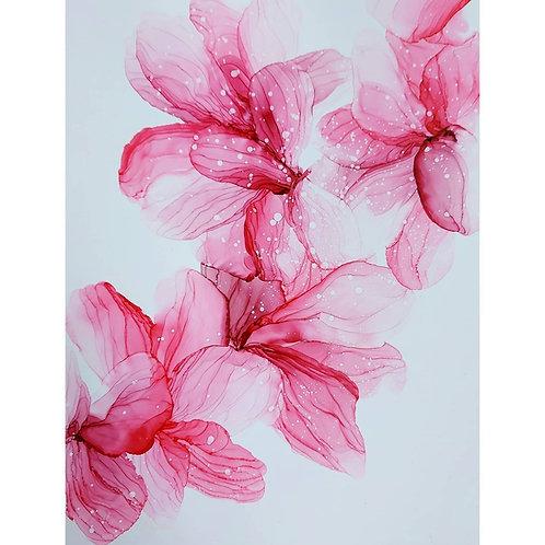 Flamingo pink florals