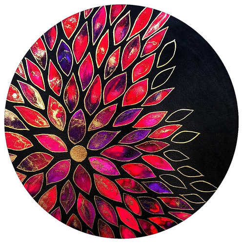 Flower burst on canvas