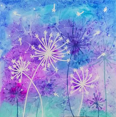 Dandelions Water Color
