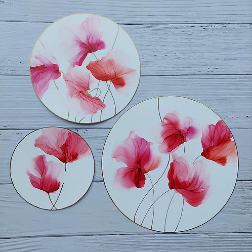 Flowing Florals - Set of three