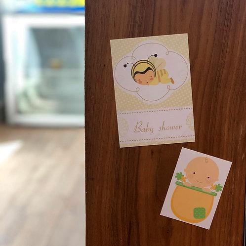Geboortekaartje op herpositioneerbare sticker 100 stuks