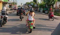 Scooter fahren quer