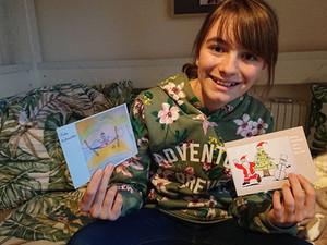 Weihnachtskarten schreiben ist schön – Wir haben selbst gezeichnete mit Spende für Lombok