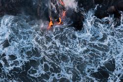 Lava meets the ocean Hawaii Copyright Denesa Chan-30 copy