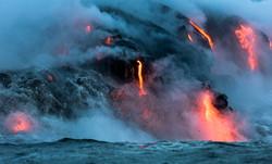 Lava Ocean Entry By Boat Copyright Denesa Chan-3695