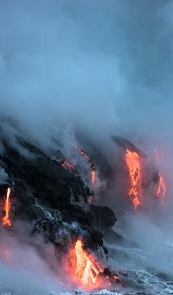 Lava Ocean Entry By Boat Copyright Denesa Chan-3735