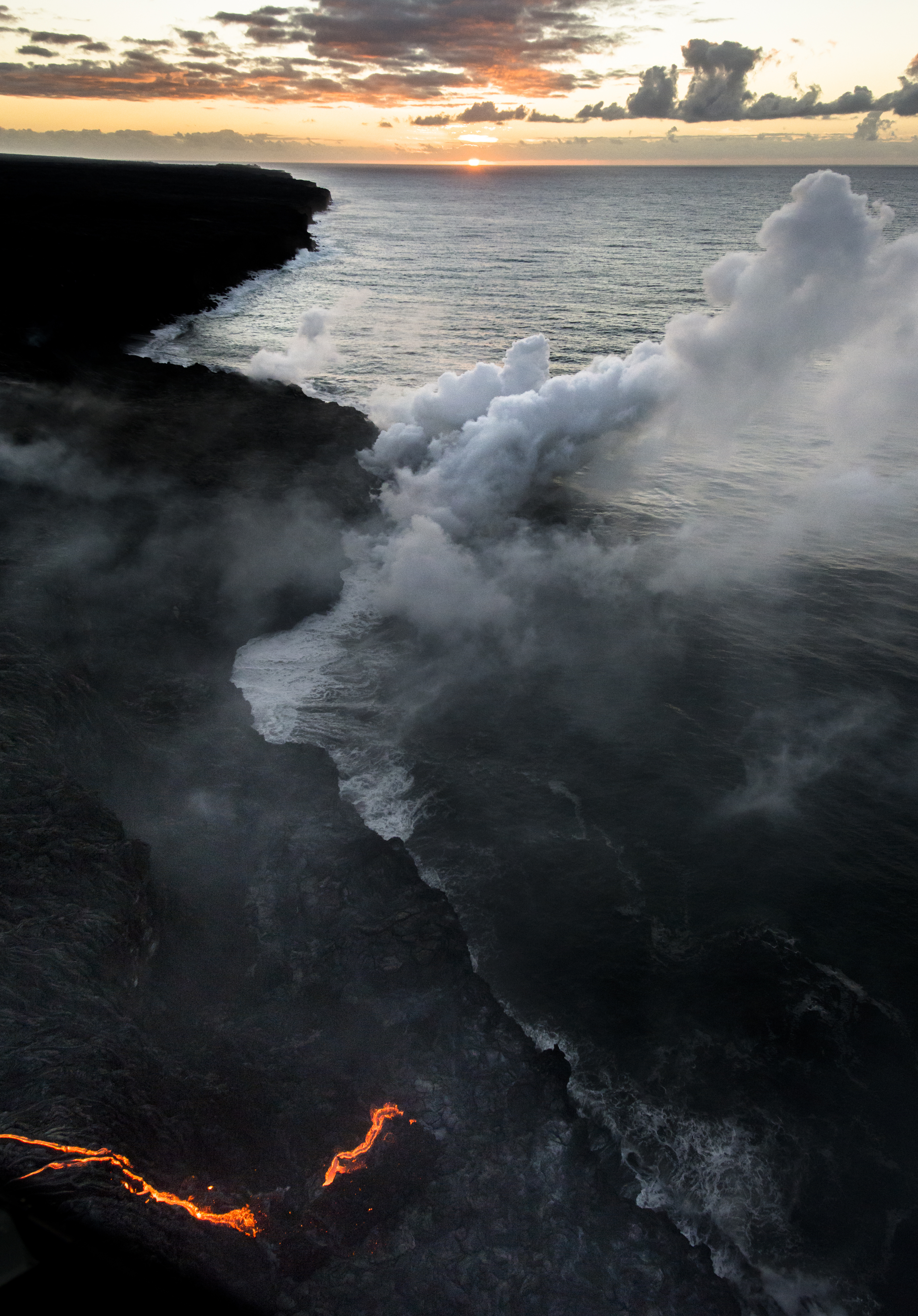 Lava meets the ocean Hawaii Copyright Denesa Chan-16 copy
