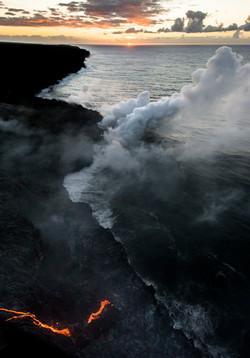 Lava meets the ocean Hawaii Copyright Denesa Chan-16 copy