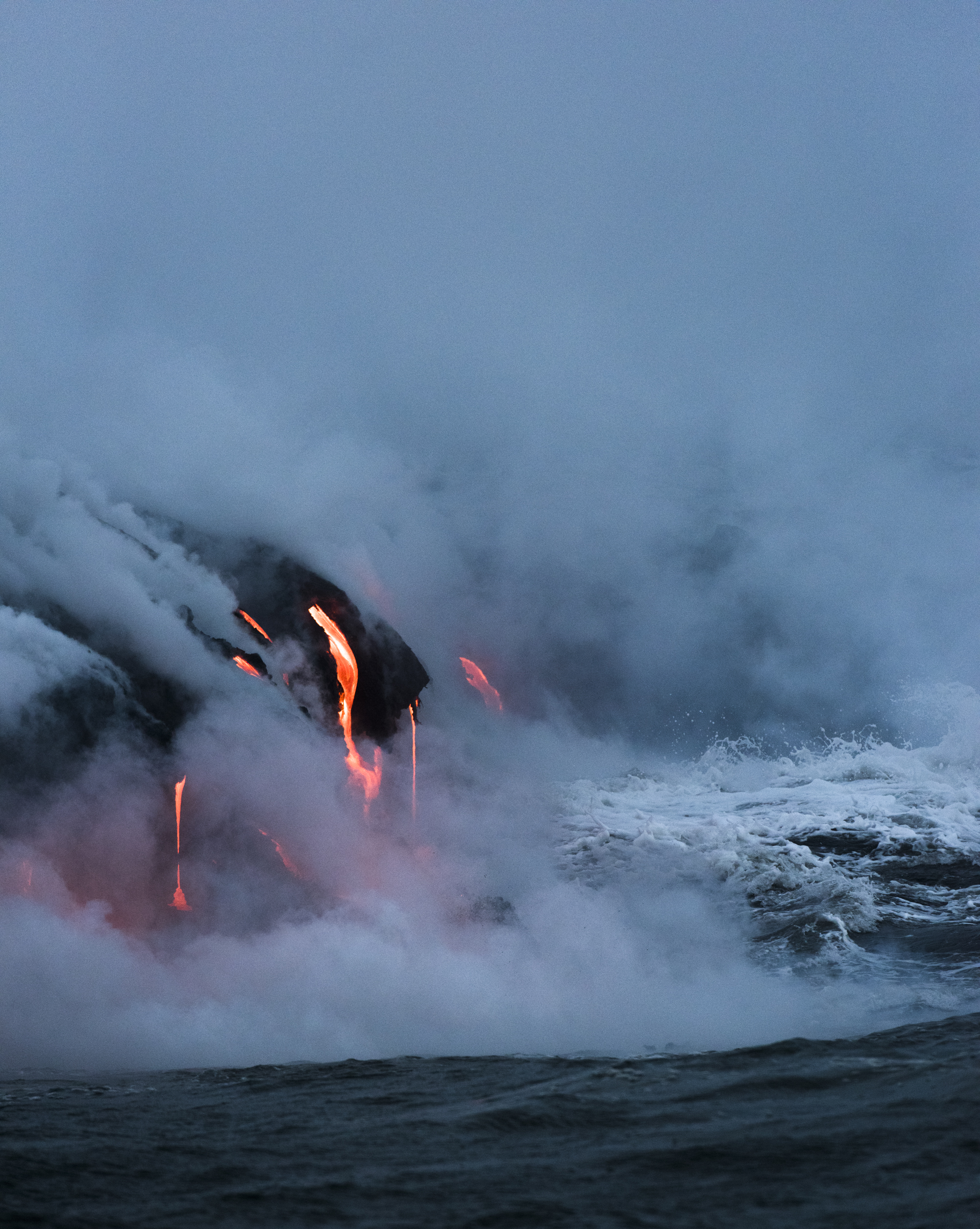 Lava Ocean Entry By Boat Copyright Denesa Chan-3754