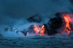 Lava Ocean Entry By Boat Copyright Denesa Chan-3585