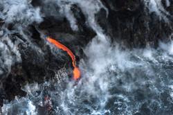Lava meets the ocean Hawaii Copyright Denesa Chan-29 copy
