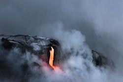 Lava Ocean Entry By Boat Copyright Denesa Chan-3929