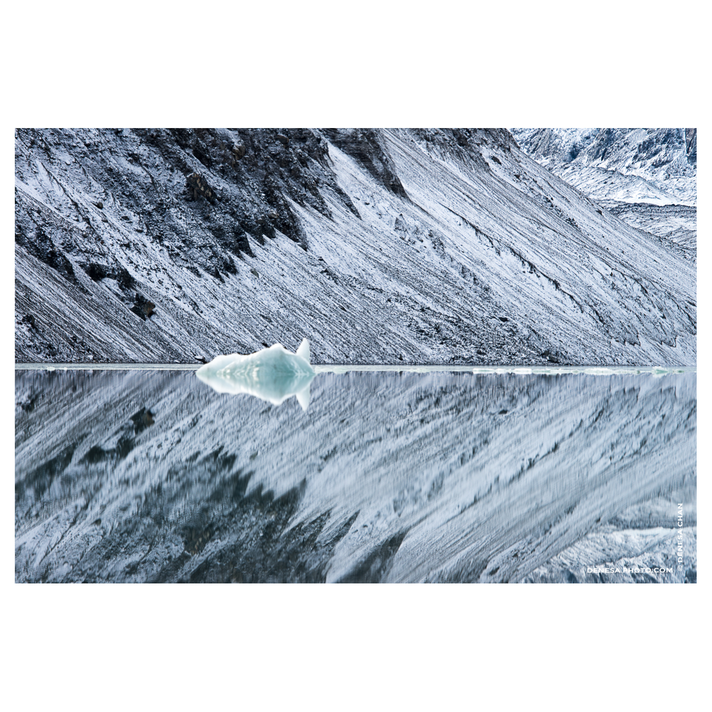 Glacial_Reflection_Arrow_Snow_Geometry_Iceberg_New_Zealand_Winter_©_Denesa_Chan_Photography_5123