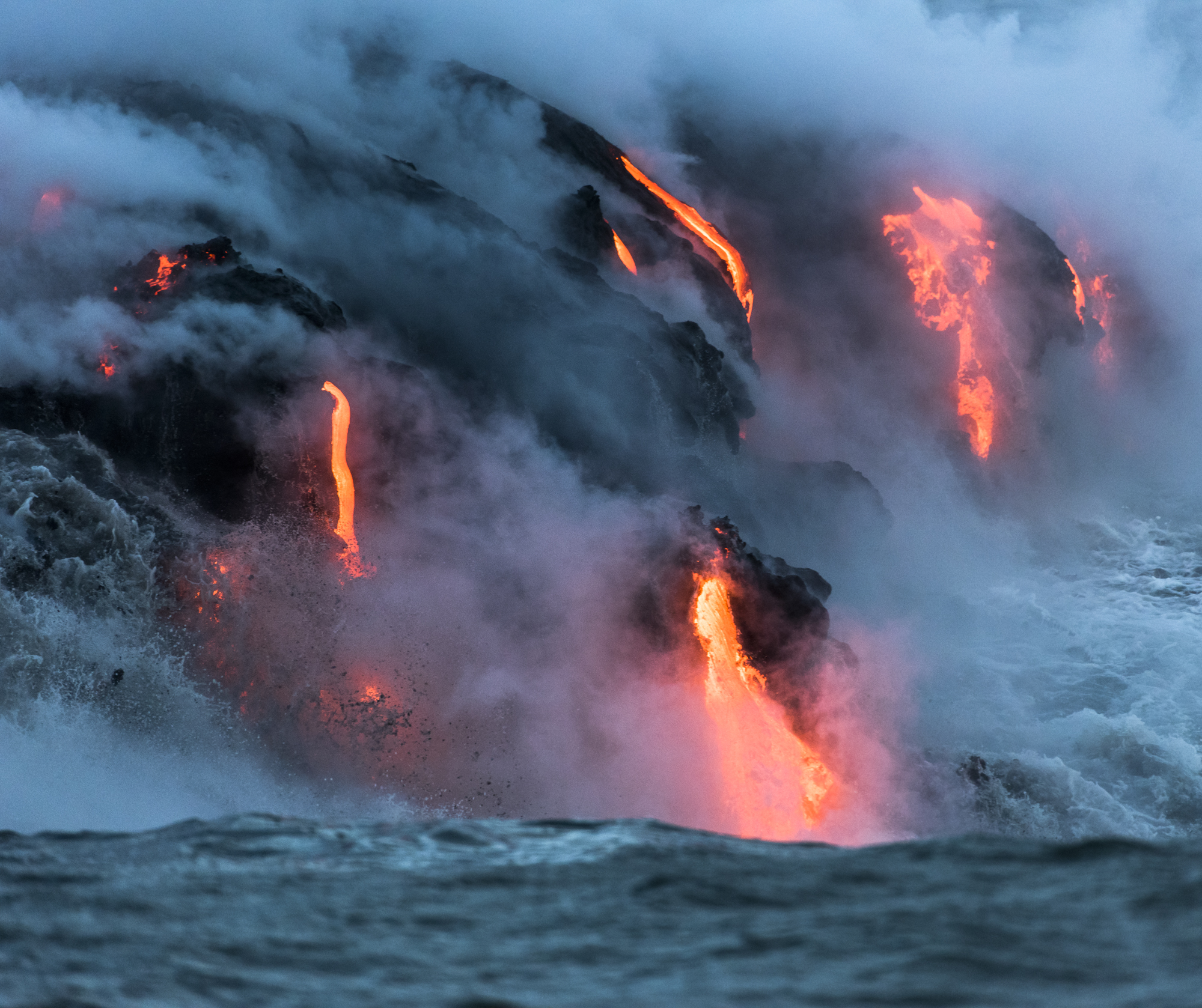 Lava Ocean Entry By Boat Copyright Denesa Chan-3696
