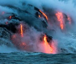 Lava Ocean Entry By Boat Copyright Denesa Chan-3696