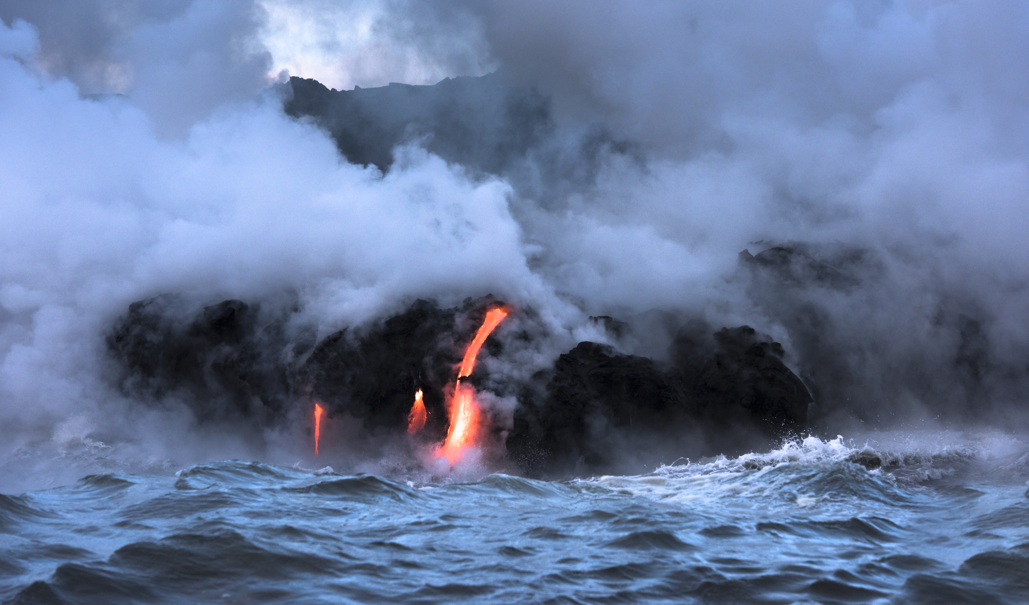 Lava Ocean Entry By Boat Copyright Denesa Chan-4039