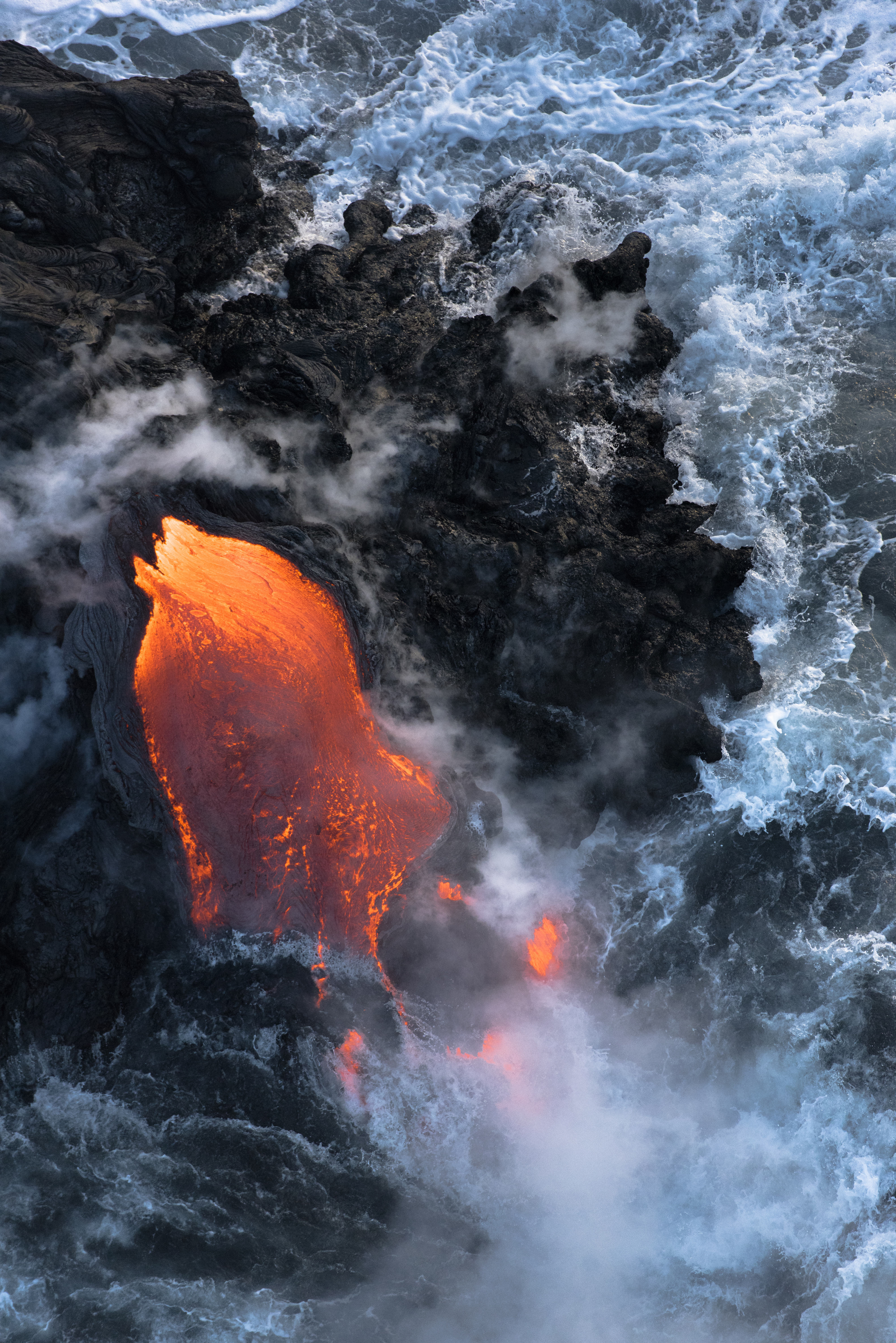 Lava meets the ocean Hawaii Copyright Denesa Chan-31 copy