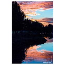 New_Zealand_Sunset_Reflection_Vivid_Colors_Paeroa_River_©_Denesa_Chan_Photographer_Nature_Photograph