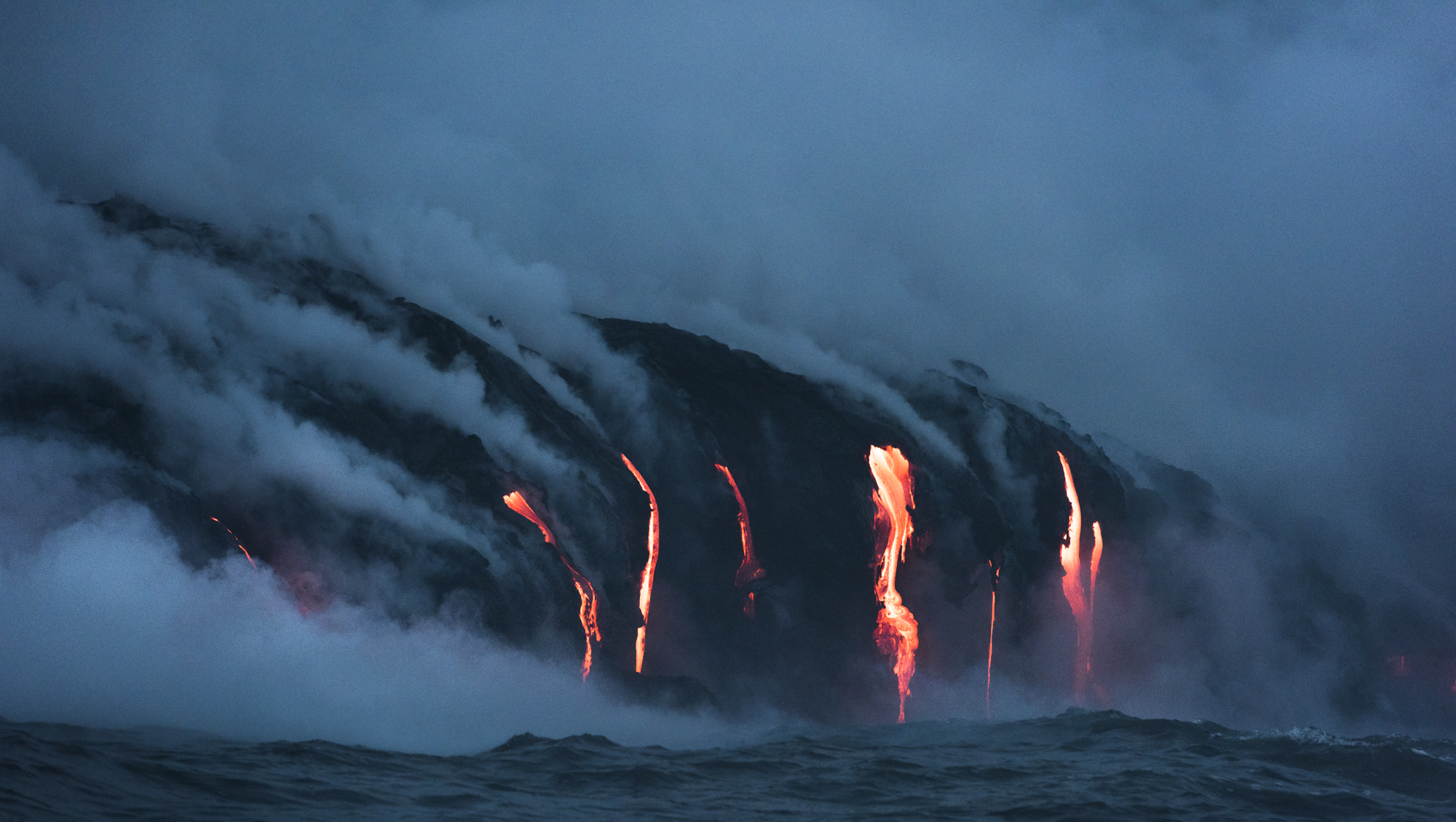 Lava Ocean Entry By Boat Copyright Denesa Chan-3764