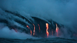 Lava Ocean Entry By Boat Copyright Denesa Chan-3764