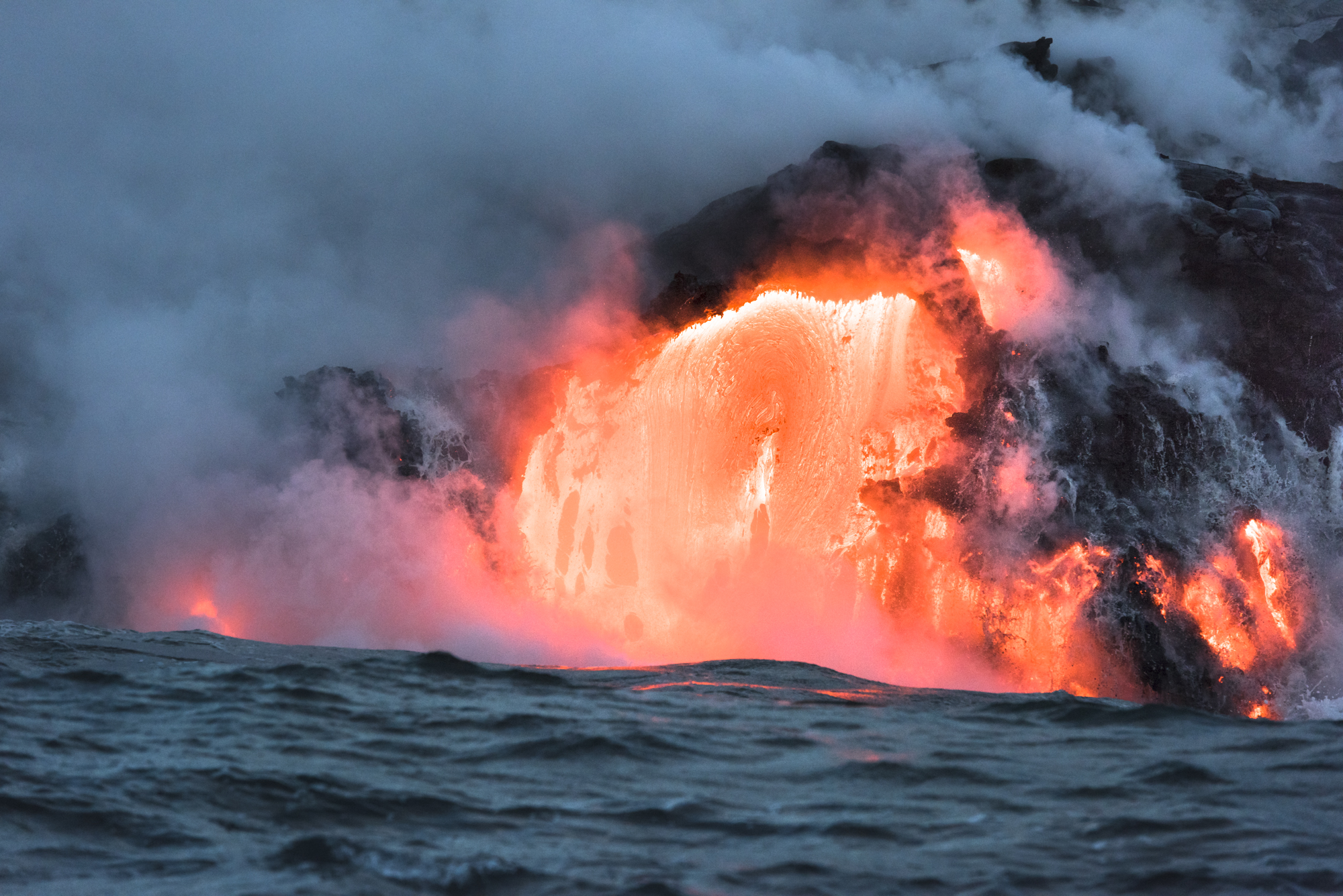 Lava Ocean Entry By Boat Copyright Denesa Chan-3602