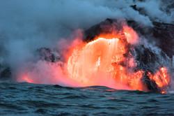 Lava Ocean Entry By Boat Copyright Denesa Chan-3602