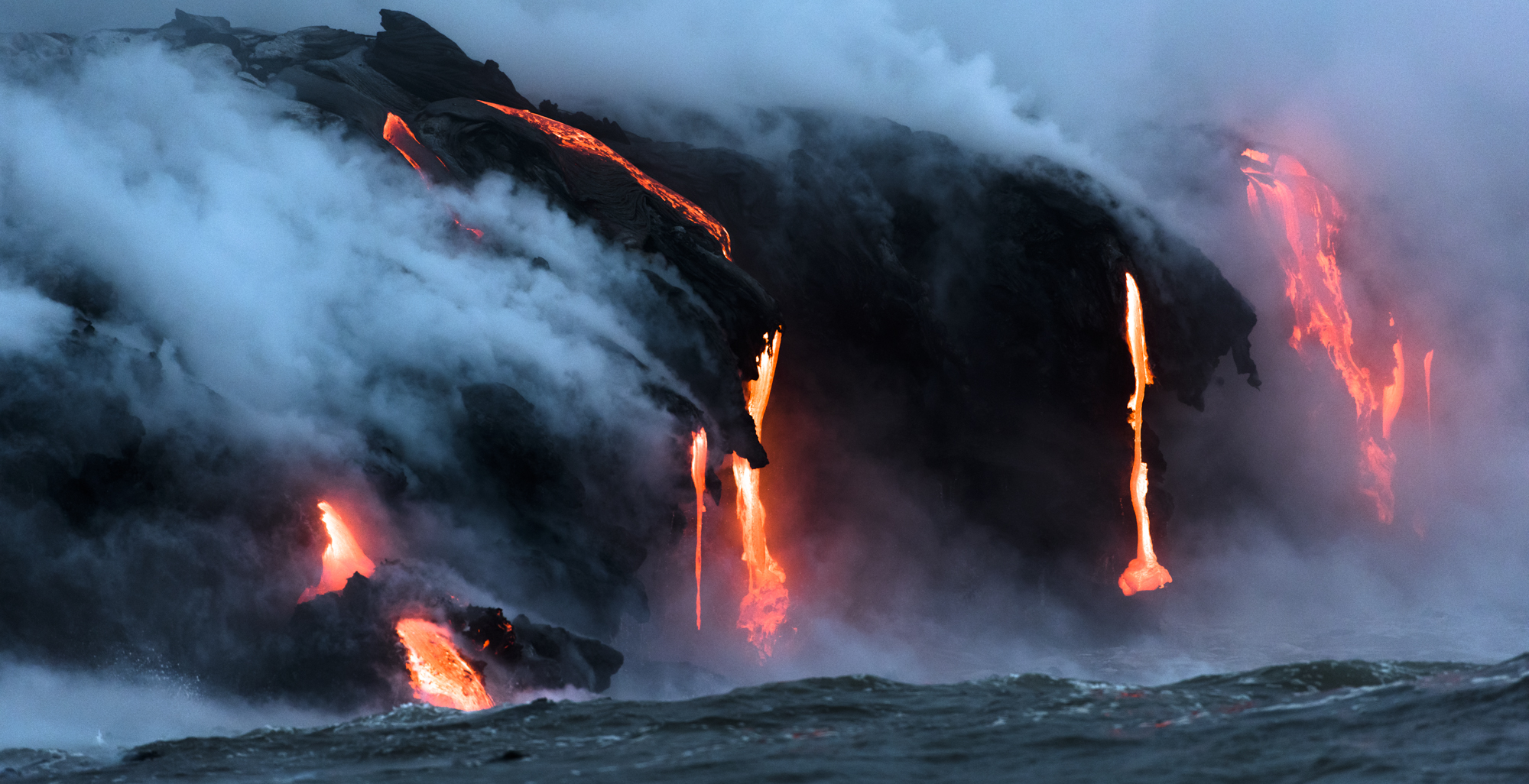 Lava Ocean Entry By Boat Copyright Denesa Chan-3889