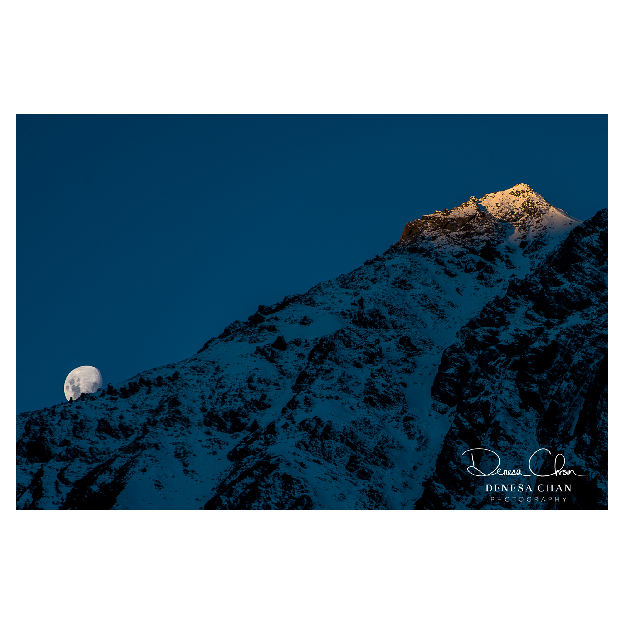 Mt_Cook_Sunset_Shadow_Climbing_Up_Mountain_Moon_New_Zealand_South_Island_©_Denesa_Chan_Photography_4